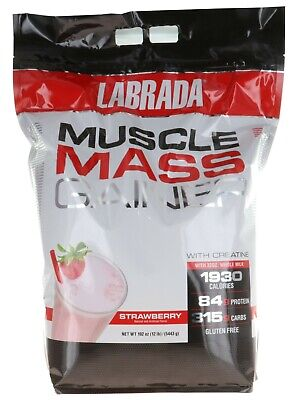 LABRADA MUSCLE MASS GAINER 12LB LOW PRICE WEIGHT GAINER 84GMS PROTEIN