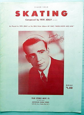 (PETE JOLLY Sheet Music SKATING Criterion Publ. 50's Jazz VOCAL traditional POP)