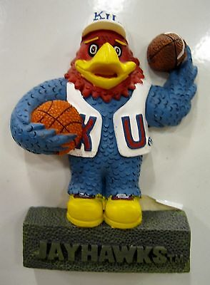 KANSAS university Jay Hawks Mascot ncaa college ceramic  MAGNET      ()