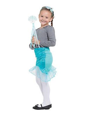 Kinder Meerjungfrau Kostüm Satz Tutu Stirnband Zauberstab Blau - Band Tutu Kind Kostüm