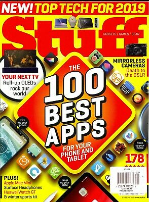 Stuff #240 February 2019 Gadget Magazine (100 Best Apps For Your Phone &