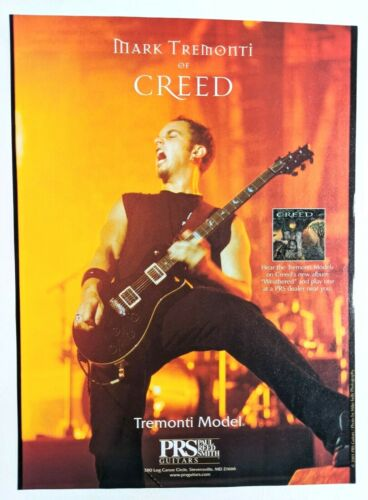 CREED / ALTER BRIDGE / MARK TREMONTI / 2001 PRS GUITAR MAGAZINE PRINT AD + DVD