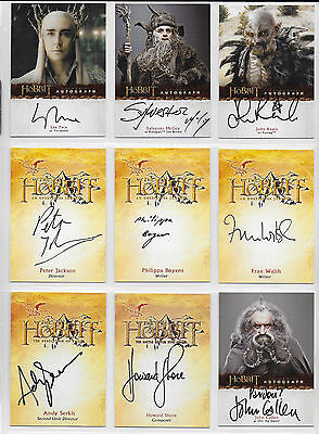 The HOBBIT Master Set 27 Autographs, Sketch, 3D, Base, Chase, Promos with Binder