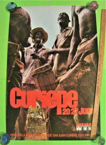 "ca 1970 VENEZUELA TRAVEL TOURIST POSTER 25"" X 37"" Suya Tambores De San Juan XLNT"