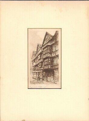 Edward Cherry Signed Etching WWI Veteran Artist - $99.99