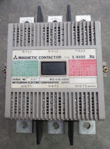 Mitsubishi S-K400 Magnetic Contactor 120V Coil
