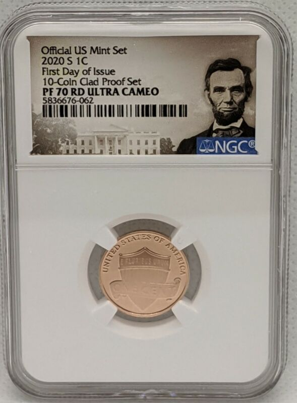 2020 S Lincoln Cent NGC PF70 RD Ultra Cameo First Day of Issue FDOI