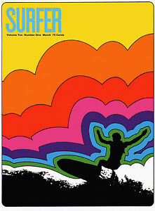 Surfer-Mag-Cover-ART-PRINT-Retro-Surfing-18-x13-poster-VINTAGE-SURF-SPORTS