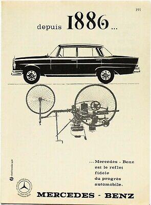 Publicité papier Voiture Mercedes-Benz Décembre 1961 P1012002