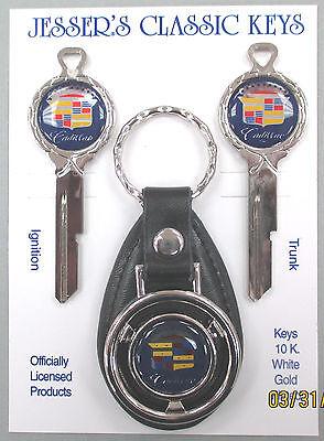 1959 Navy Blue Cadillac Eldorado Classic White Gold Deluxe Key Set NOS Keys