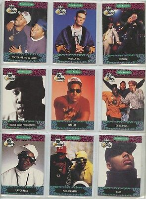 1991 YO MTV RAPS , COLLECTION OF 9 CARDS