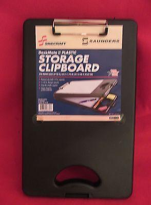 Saunders Skilcraft Plastic Storage Clipboard 9.5 X 11.75 New