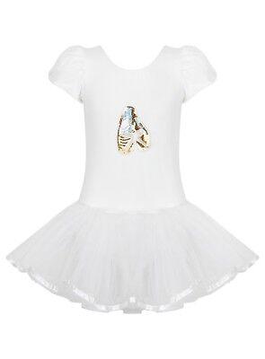 chen Ballett Paillette Tutu Dance Turnanzug Ballerina - 2 (Kleinkind Weiße Ballerinas)