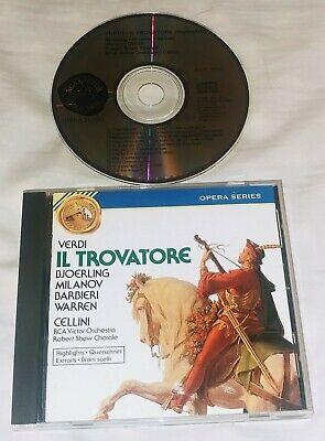 VERDI: Il Trovatore - Highlights CD 1988 RCA - Il Trovatore Highlights