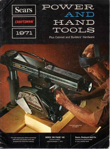 Vintage Sears CRAFTSMAN 1971 Power and Hand Tools Catalog FREE SHIPPING