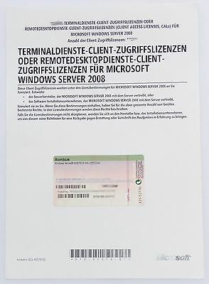 1 User / Benutzer CAL für Windows 2008 Terminal Server / RDS Remote Desktop -