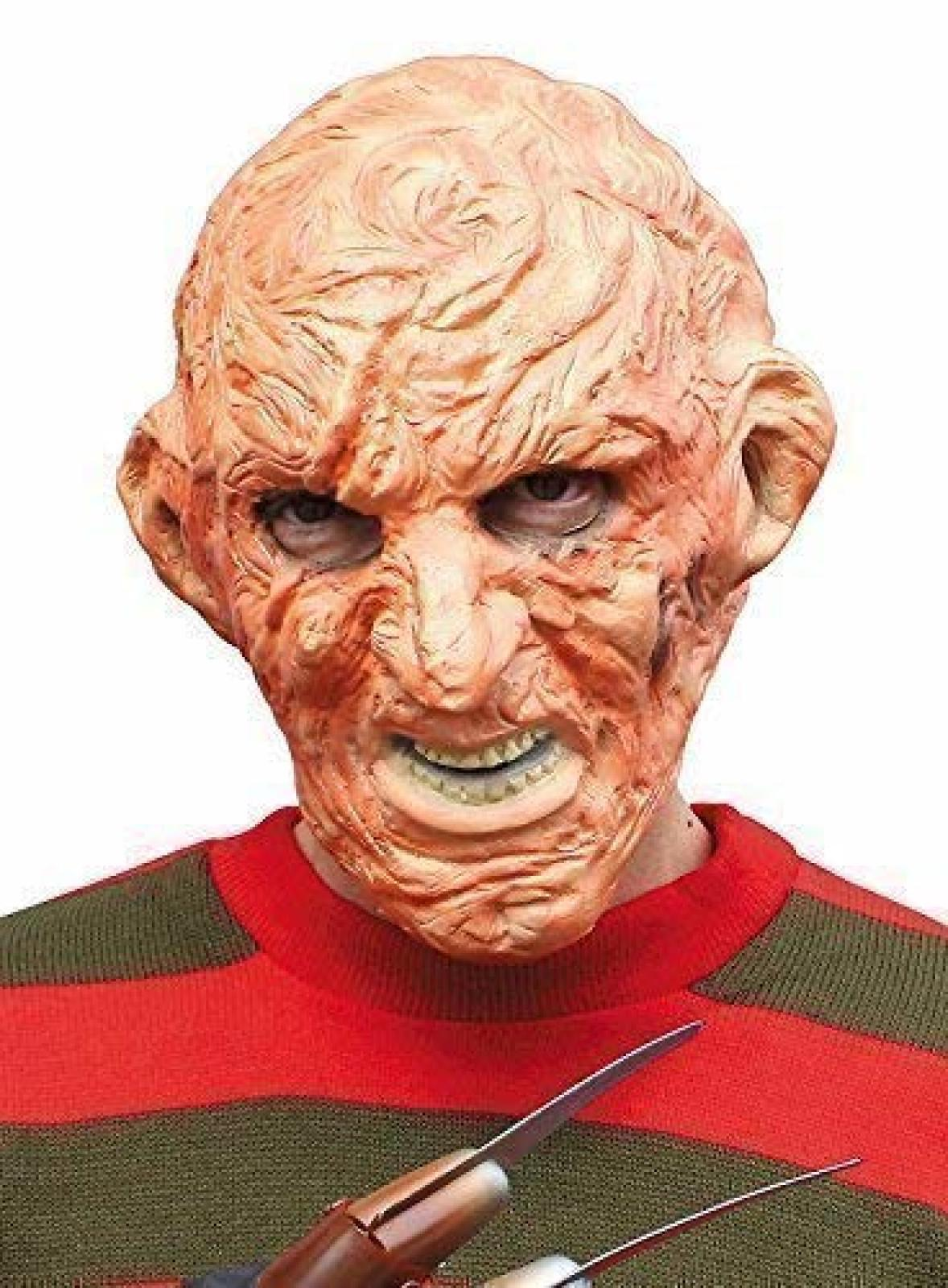 Halloween Freddy Krueger Party Face Eye Mask Scary Outfit Accessory Movie Hero