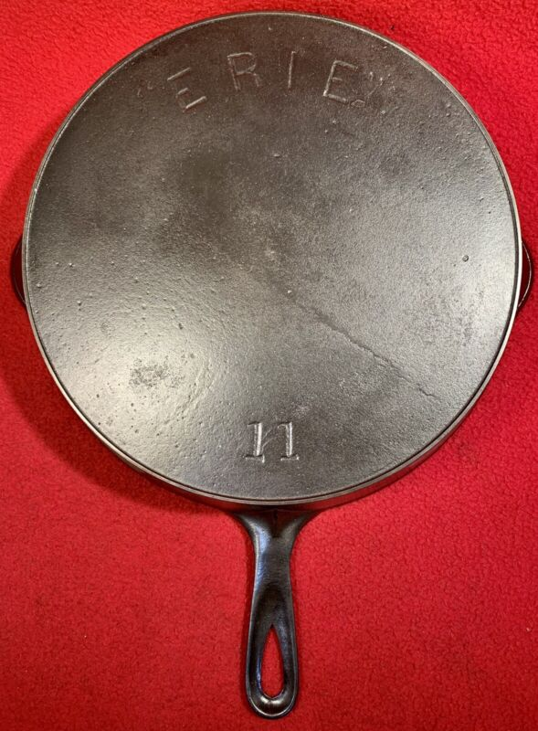 Griswold ERIE Cast Iron Size 11 Skillet First Series