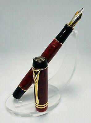 Parker Duofold Centennial Jasper Red Fountain Pen 18K XF Nib 1997