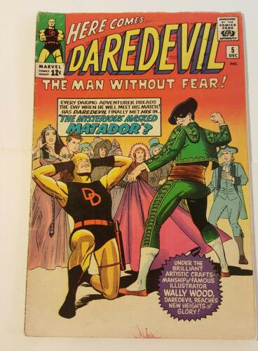 DAREDEVIL 5 Stan Lee, WALLY WOOD, Yellow costume, 1st Matador