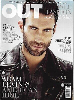 Out Gay Magazine Adam Levine Fall Fashion Nikki Araguz Tom Cullen Anna Faris