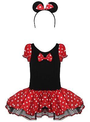 Mädchen Kleinkind Minnie Maus Punkte Verkleidung Turnanzug Tutu-Party - Age 2 - Kleine Mädchen Tutu Schwarz Kostüm