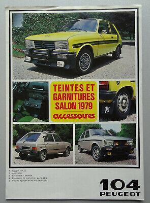 V18871 PEUGEOT 104 & 104Z COLOR BOOK - DEPLIANT - 09/79 - A4 - FR FR