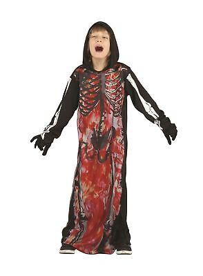 Skelett Demon mit Kapuze, Klein, Halloween, Jungen (oder Mädchen - Kleiner Junge Skelett Kostüm