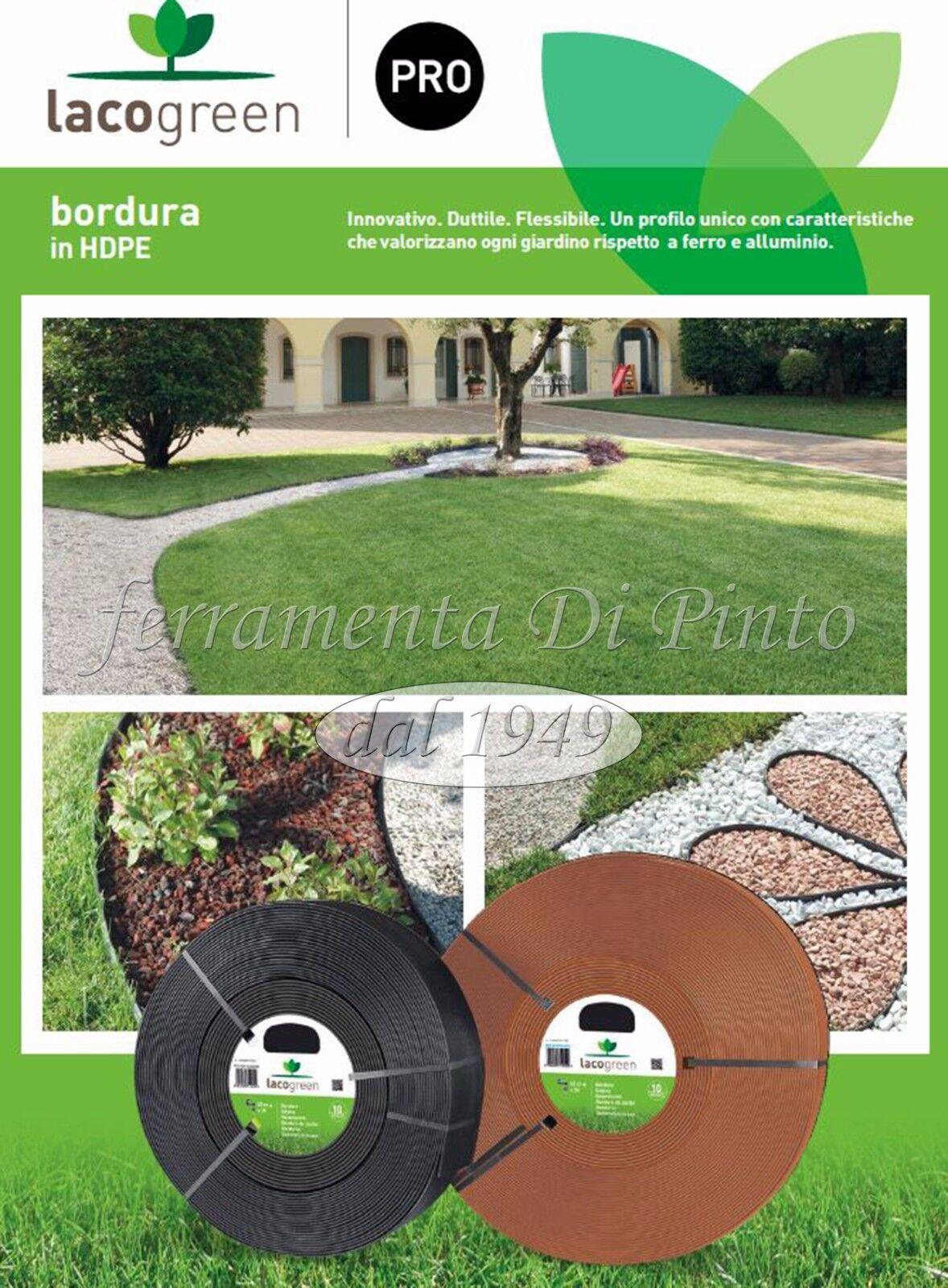 Kit Bordura Verde MT 65 mm 4,5 Decorazione Giardino Duttile Flessibile Lacogreen
