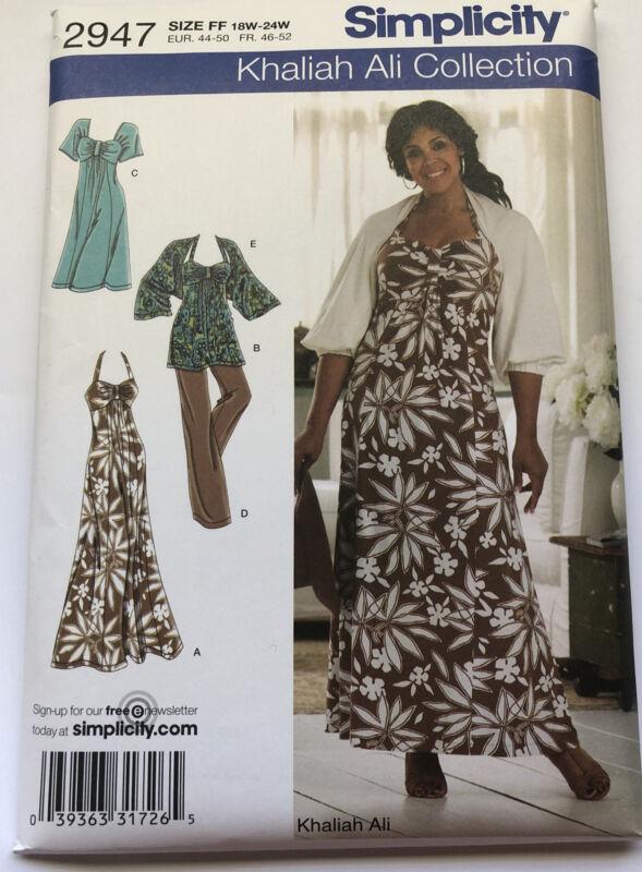 Simplicity Sewing Pattern 2947 Size FF 18W-24W