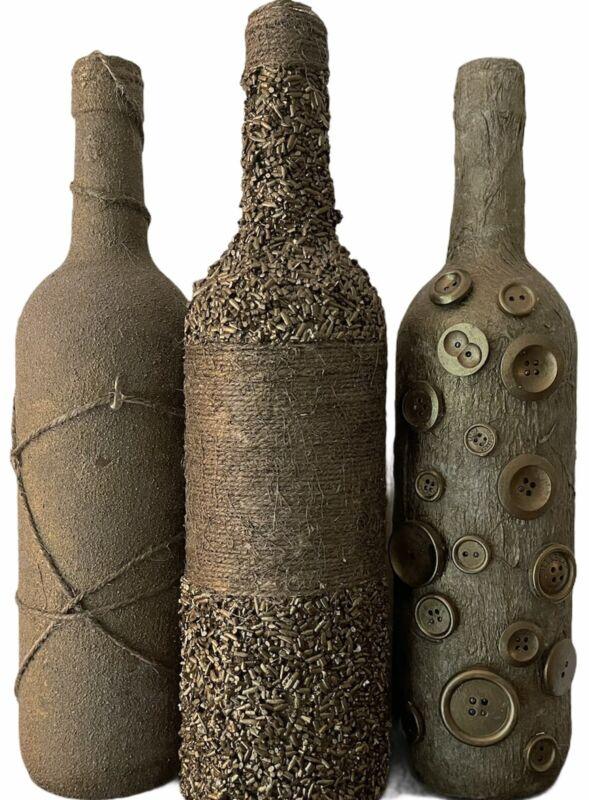 Handmade Decorative Bottles (Set Of 3)