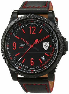 Ferrari Mens Analog Dress Quartz Watch NWT 0830271
