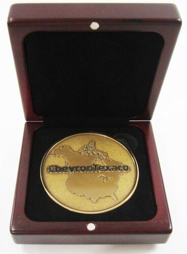 Vintage Chevron Texaco Upstream Drilling Employee Service Award Medal 2004