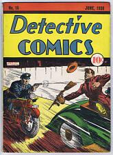 Detective Comics #16 DC 1938 Ad for Action Comics #1!