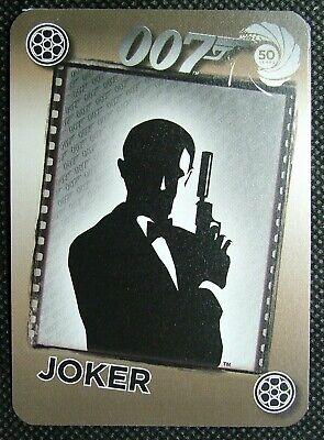 1 x Joker playing card 50 years 007 Silhouette James Bond holding gun B B2