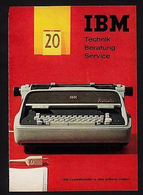 3w902/ Alte Reklame - von 1961 - IBM - Technik - Beratung - Service