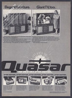 QUASAR Company Furniture and Appliances Print Ad