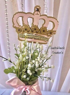 Royal Princess/ princess Crown/ Princess theme/ Crown centerpieces stick - Princess Birthday Themes