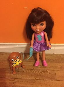 Dora with walking dog