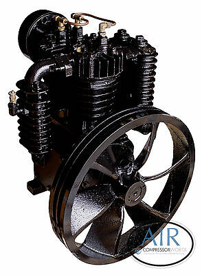 5 Hp Or 7.5 Hp Industrial Air Compressor Pump Two Stage 175 Psi W Flywheel