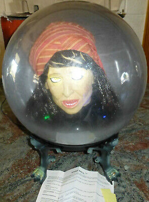 2005 Gemmy Boule Magique Animated Spirit Ball WORKS Halloween Prop Large Version