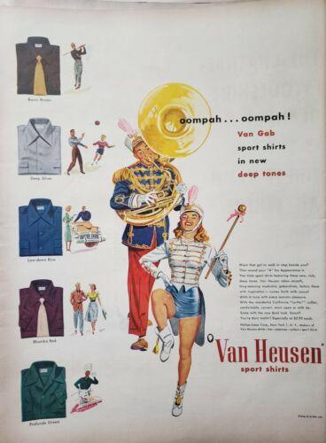 Vintage 1948 Van Heusen Sport Shirts Print Ads Ephemera Art Decor