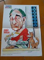 Roma As Poster Caricatura Dino Viola 1987 Allegato Skorpio Lanciostory -  - ebay.it