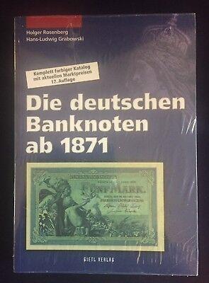 Die deutschen Banknoten ab 1871, Rosenberg / Grabowski, 17. Auflage
