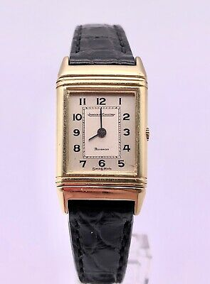 """RARE JAEGER LECOULTRE REVERSO """"MINI"""" 18K SOLID YELLOW GOLD LADIES WATCH"""