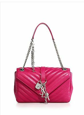 NWT$2950 Saint Laurent Monogram Matelasse Leather Top-Handle Shoulder Bag w/Box