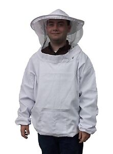 New Large Beekeeping Bee Keeping Suit, Jacket, Pull Over, Smock with Veil