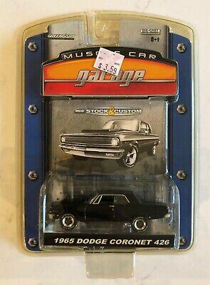 Greenlight Muscle Car Garage Stock & Custom 1965 Dodge Coronet 426 Black MOSC