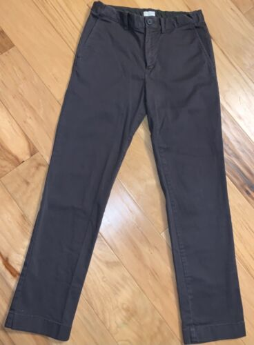 CREWCUTS BOYS GRAY CHINO PANTS SIZE 12 EXCELLENT COND LD3