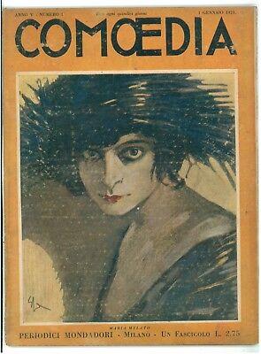 COMOEDIA N 1 1923 MARIA MELATO LUIGI PIRANDELLO GIUSEPPE ADAMI PICCOLA FELICITA'